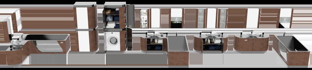 модульные системы Brown Leather