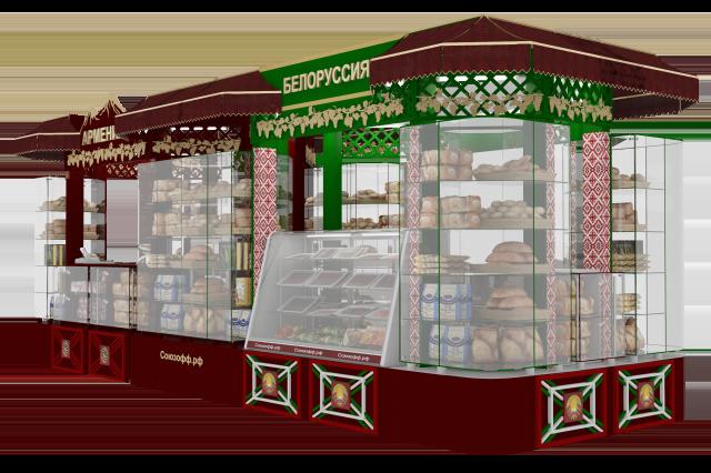 Дизайн проект торгового павильона
