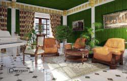 Оформление гостиной комнаты — примеры.