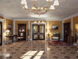 оформление гостиной комнаты в классическом стиле