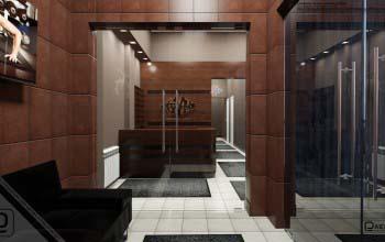 Дизайн и оформление холла фитнес центра.