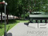 военная техника в парке