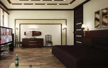 Цветовое оформление спальни.