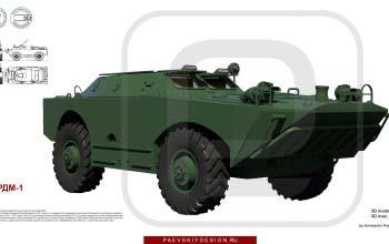 3D модель БРДМ-1.