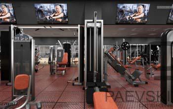 Дизайн спортивного комплекса, фитнес центра.