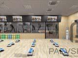 зал для фитнеса, йоги, пилатес