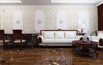 Дизайн проект гостиной интерьер в классическом стиле.