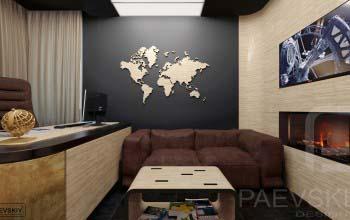 Современный дизайн кабинета в квартире.