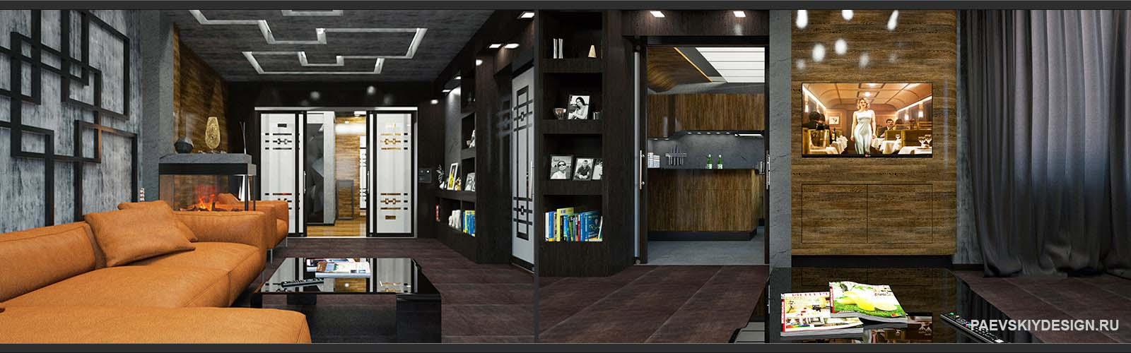 Дизайн проект квартиры в Москве под ключ