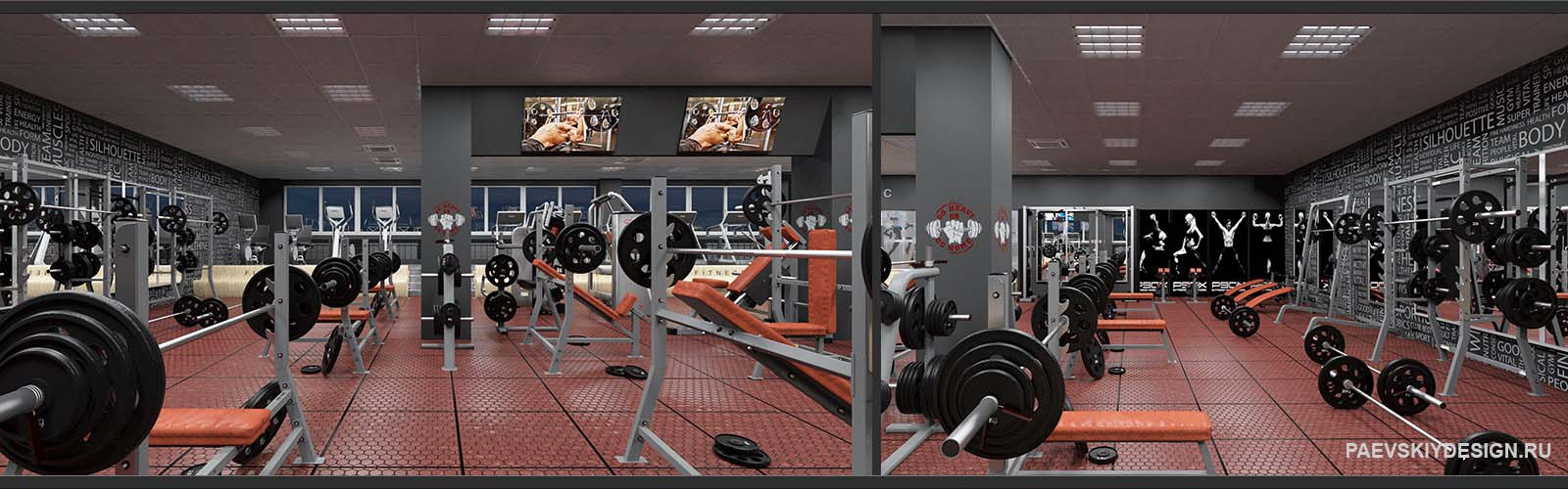 Дизайн фитнес клуба под ключ Разработка проектов фитнес клубов и фитнес центров