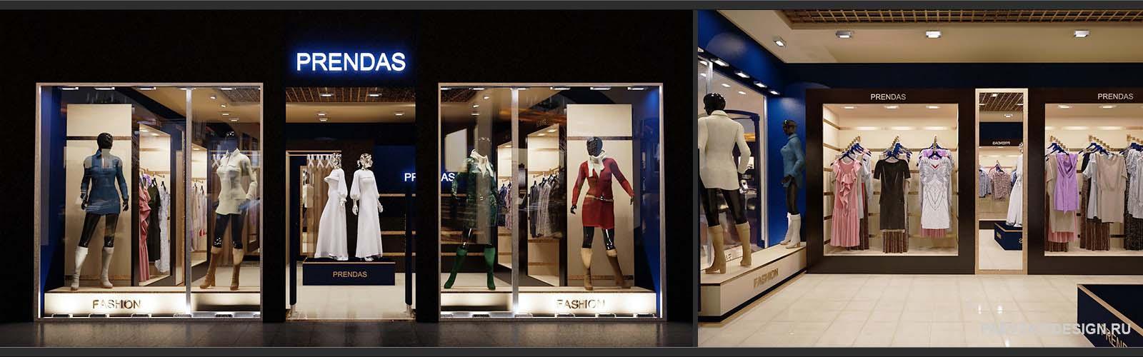 Дизайн проект магазина одежды
