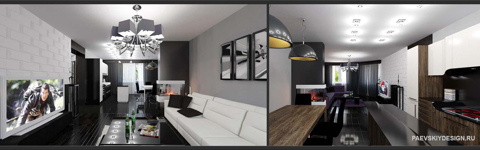 Современное оформление гостиной комнаты