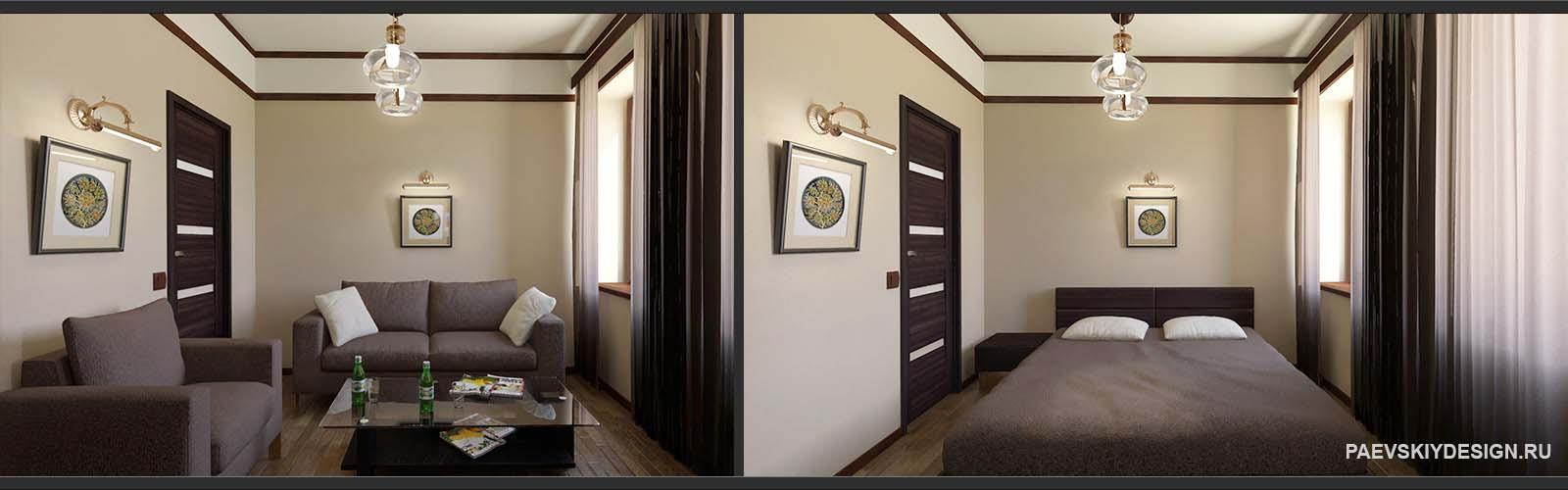 Концепция комнаты для гостей