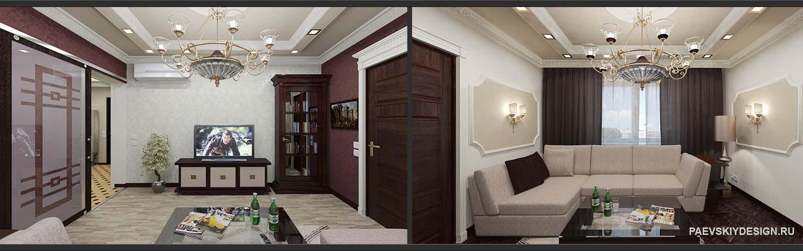варианты оформления гостиной в классическом стиле