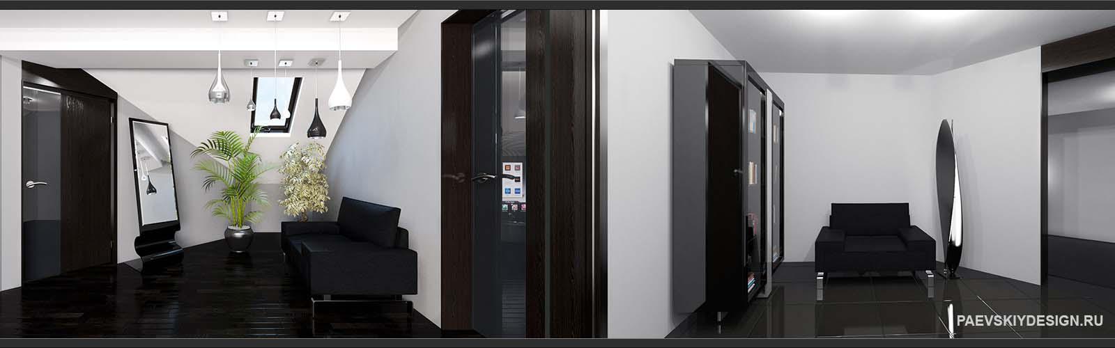 Концепция коридора прихожей в современном стиле