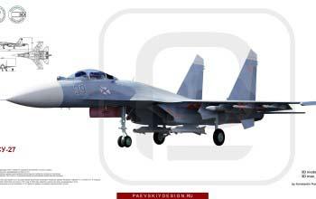 3D модель СУ-27.