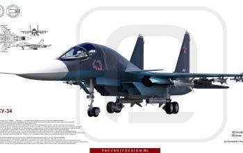3D модель СУ-34.