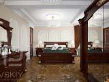 классическое оформление спальни