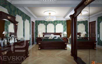 Классическое оформление спальни.