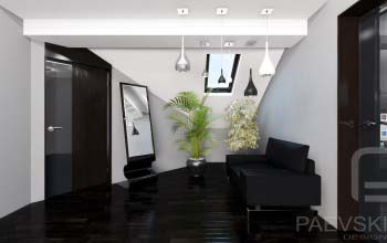 Концепция коридора прихожей в современном стиле.