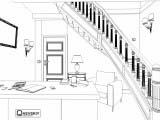 Эскиз дизайна кабинета