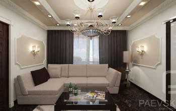 Варианты оформления гостиной в классическом стиле.