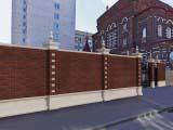 кирпичный забор кладка
