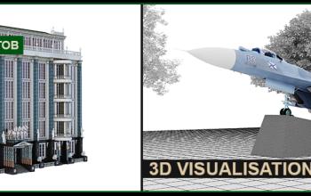 3d визуализация объектов, техники, архитектурных сооружений.
