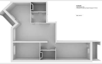 3d макет, визуализации квартиры.