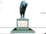 монумент лев для парков