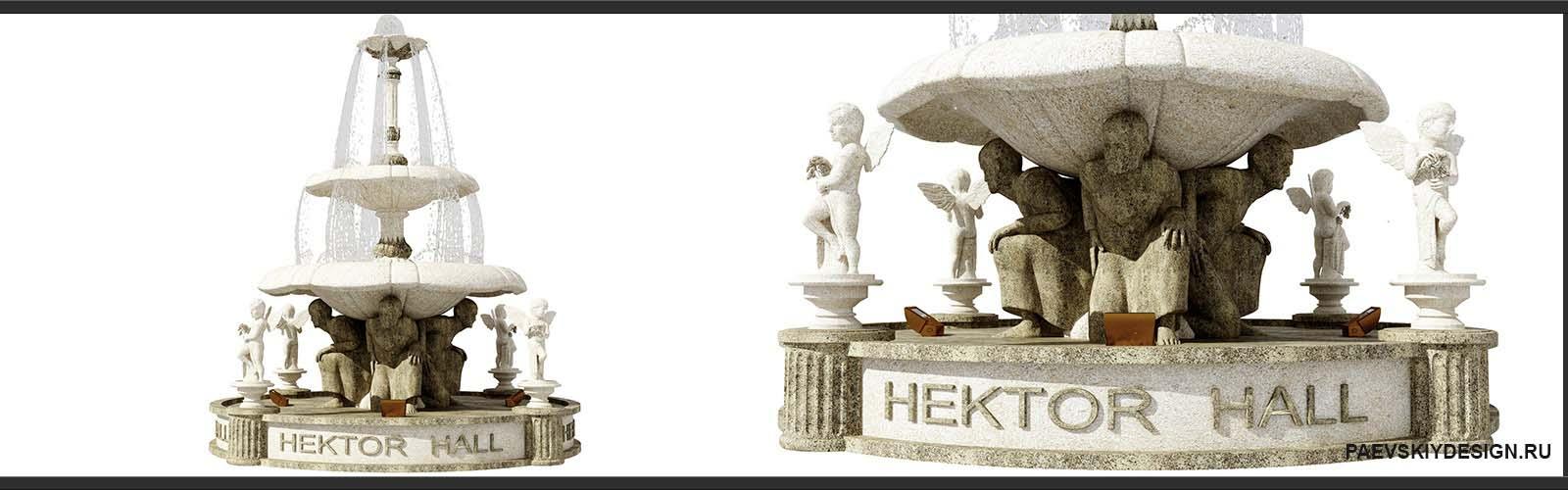 Дизайн фонтана и архитектурное оформление, создание архитектурного классического образа