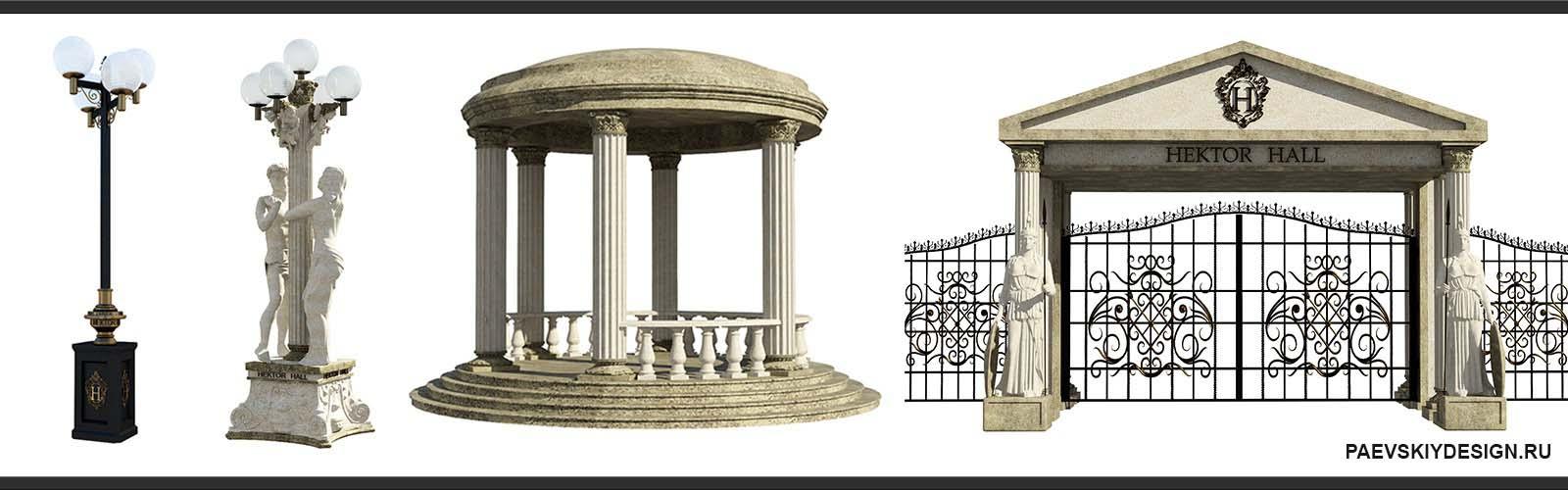 Дизайн архитектурных композиций строений, сооружений
