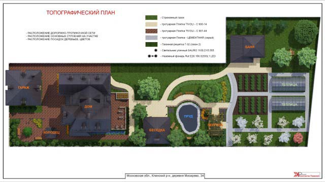 3d эскиз загородного участка