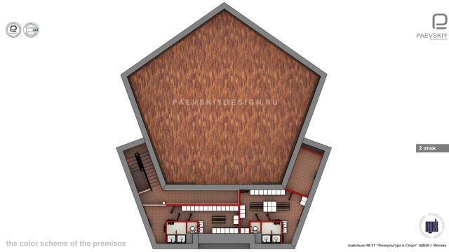 3d перспективы, эскизы общественного интерьера выставочного павильона