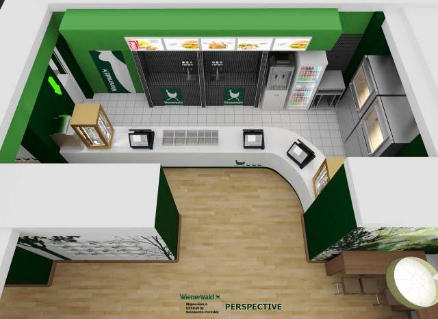 3d перспективы кафе-бара