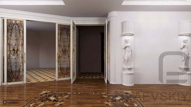3d макет квартиры, эскизные визуализации комнаты