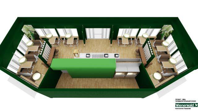 3d перспективы помещения кафе-бара