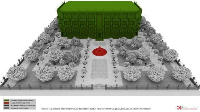 3d перспектива парковой территории