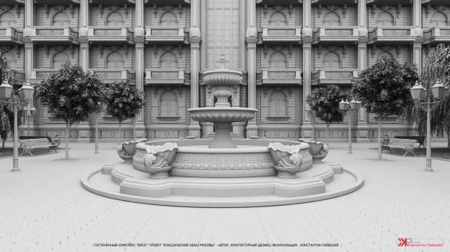 3d эскиз архитектурных элементов строения