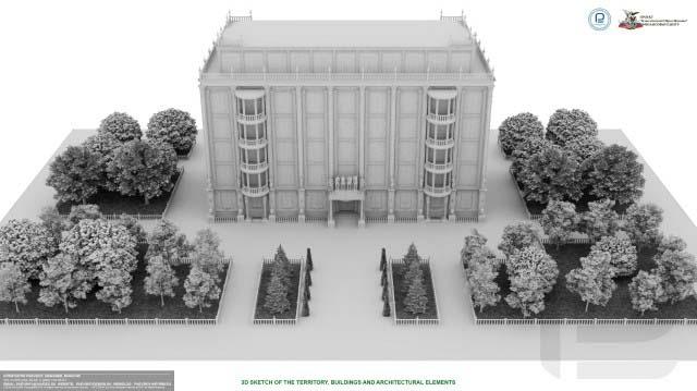3d эскизы, перспективы территории, строений