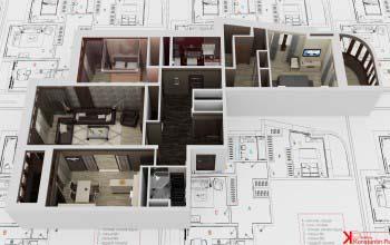 3d перспективы квартиры.