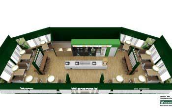 3d перспективы помещения кафе-бара.