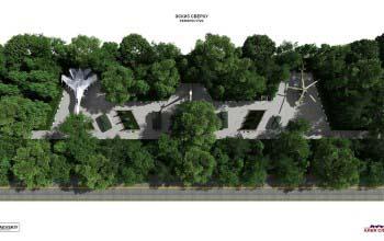 3d планы, перспективы парковой территории.