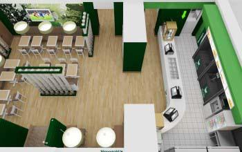 3d перспективы, эскизы кафе-бара.