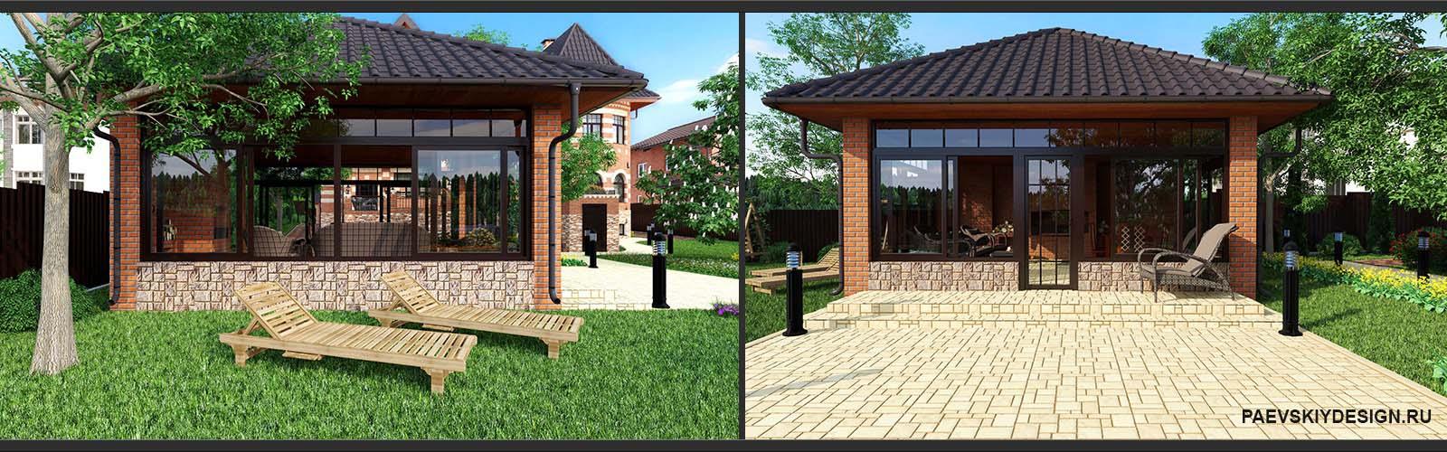 Дизайн проект беседки для загородного дома