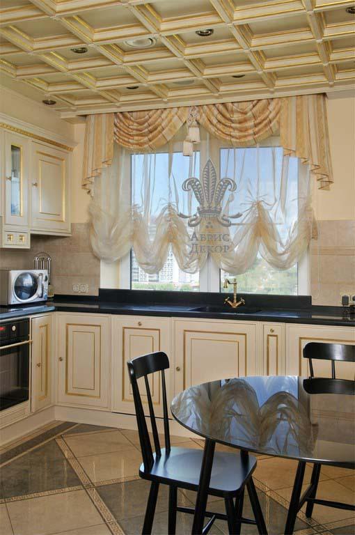 Штор для кухни во французском стиле