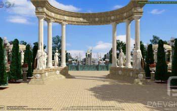 Ландшафтный дизайн парка, концепция благоустройства территории.