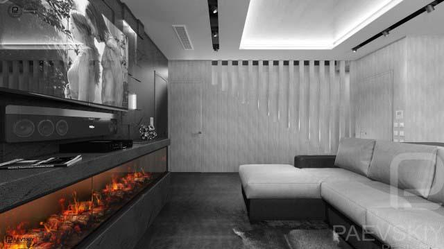 Оформление гостиной загородного дома в современном стиле