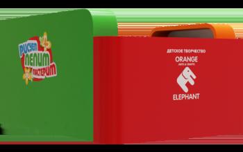 Дизайн — оформление торгового острова Orange Elephant.