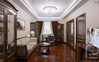Дизайн интерьера квартиры в классическом стиле.